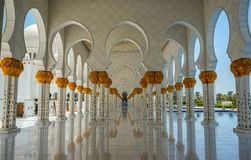 Abu Dhabi Grand Mosque. Sheikh Zayed Grand Mosque in Abu Dhabi royalty free stock images