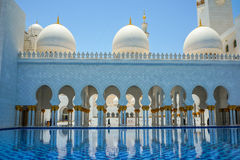 Abu Dhabi Grand Mosque Royalty Free Stock Photos