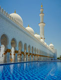 Abu Dhabi Grand Mosque. Sheikh Zayed Grand Mosque in Abu Dhabi royalty free stock image