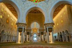 Abu Dhabi Grand Mosque. Sheikh Zayed Grand Mosque in Abu Dhabi stock photo