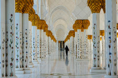 Abu Dhabi Grand Mosque Royalty Free Stock Image