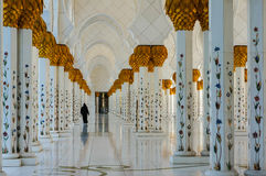 Abu Dhabi Grand Mosque Stock Photos