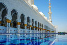 Abu Dhabi Grand Mosque Stock Images