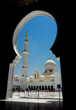 Abu Dhabi Grand Mosque. Sheikh Zayed Grand Mosque in Abu Dhabi royalty free stock photography