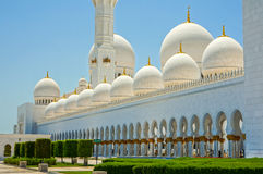 Abu Dhabi Grand Mosque Stock Photo