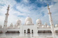 Abu Dhabi Grand Mosque Stock Photography