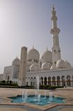Abu Dhabi granmoské Royaltyfria Bilder