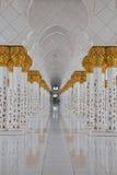 Abu Dhabi granmoské Royaltyfri Foto