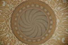 Abu Dhabi großartige Moscheen-Deckendetails Stockbilder