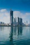 Abu Dhabi-Hochhaus Stockfotos
