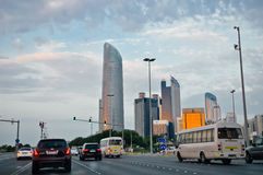 Abu Dhabi huvudstaden av UAE Arkivbild