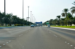 Abu Dhabi huvudstaden av UAE Arkivbilder