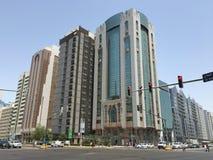 Abu Dhabi im Stadtzentrum gelegen Lizenzfreies Stockfoto
