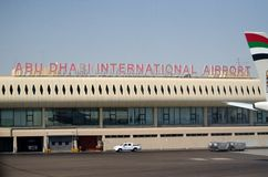 Abu Dhabi International-Flughafen Stockbilder
