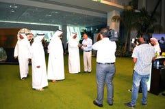 Abu Dhabi International Hunting and Equestrian Exhibition (ADIHEX) - Sheikh Visiting Stock Photography