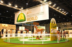 Abu Dhabi International Hunting och ryttareutställning (ADIHEX) - Abu Dhabi Equestrian Club Arkivfoto