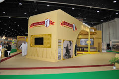 Abu Dhabi International Hunting och ryttareutställning (ADIHEX) - Abu Dhabi Falconers Club Royaltyfria Bilder