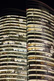 Abu Dhabi Investment Authority Tower Night Closeup Royalty Free Stock Photos