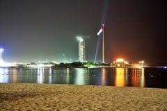 Abu Dhabi-Jachthafen nachts Stockbilder