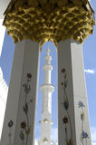 Abu Dhabi - jeque Zayed Mosque Foto de archivo