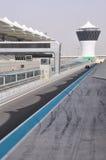 Abu Dhabi. La pista de la fórmula 1 Fotos de archivo libres de regalías