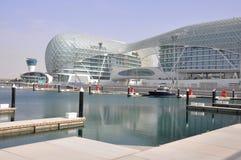 Abu Dhabi. La pista de la fórmula 1 Foto de archivo libre de regalías