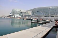 Abu Dhabi. La pista de la fórmula 1 Fotos de archivo