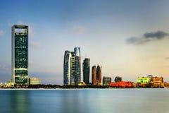Abu Dhabi linia horyzontu Zdjęcia Royalty Free