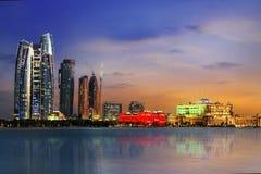 Abu Dhabi linia horyzontu fotografia stock