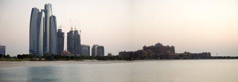 Abu Dhabi linia horyzontu fotografia royalty free
