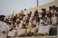 Abu Dhabi luftar fotboll Arkivfoto