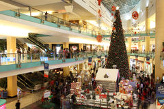 Abu Dhabi Mall during Christmas time Stock Photos