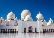 Abu Dhabi Marble Mosque - Vereinigte Arabische Emirate Stockfoto