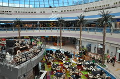 Abu Dhabi Marina Mall in the UAE. Geographically located in one of the city's most prominent districts, it comprises 122,000 sqm of retail space featuring a Stock Photo