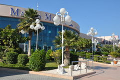 Abu Dhabi Marina Mall in the UAE. Geographically located in one of the city's most prominent districts, it comprises 122,000 sqm of retail space featuring a Stock Image
