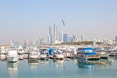 Abu Dhabi Marina, UAE Stockbild