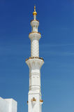 Abu-Dhabi. Minaret of Sheikh Zayed mosque Stock Photography