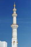 Abu-Dhabi. Minaret of Sheikh Zayed mosque Stock Photography