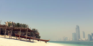 Abu Dhabi modern skyline Royalty Free Stock Image