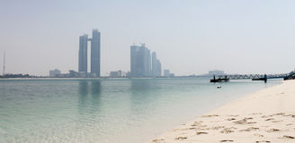 Abu Dhabi modern skyline Royalty Free Stock Photography