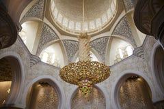 Abu Dhabi, Moschee Stockbild