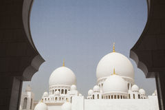 Abu Dhabi, Moschee Stockbilder