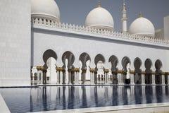 Abu Dhabi, Moschee Stockfoto
