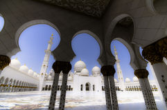 Abu Dhabi moské Arkivbild