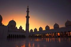 Abu Dhabi moské Fotografering för Bildbyråer