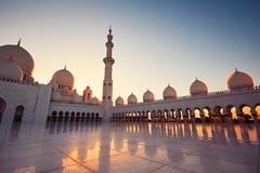 Abu Dhabi moské Arkivfoto