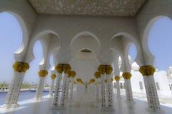 Abu Dhabi mosque Stock Image