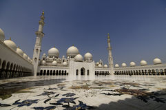 Abu Dhabi mosque Royalty Free Stock Image