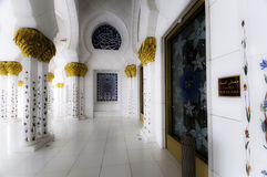 Abu Dhabi mosque Stock Images