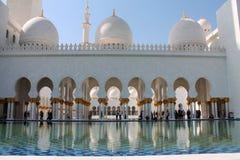 Abu Dhabi Mosque-Ansicht Lizenzfreie Stockfotografie